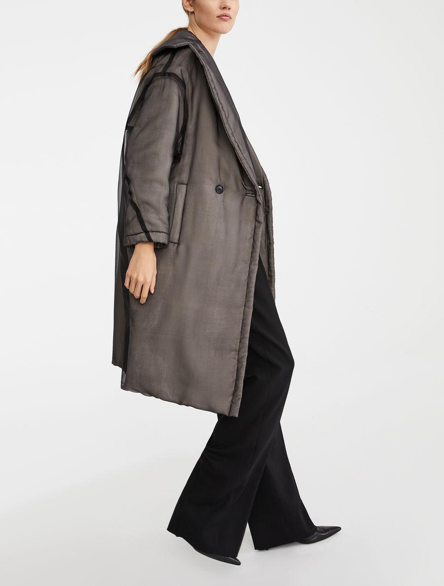 Manteau Anima Coat en soie et chameau