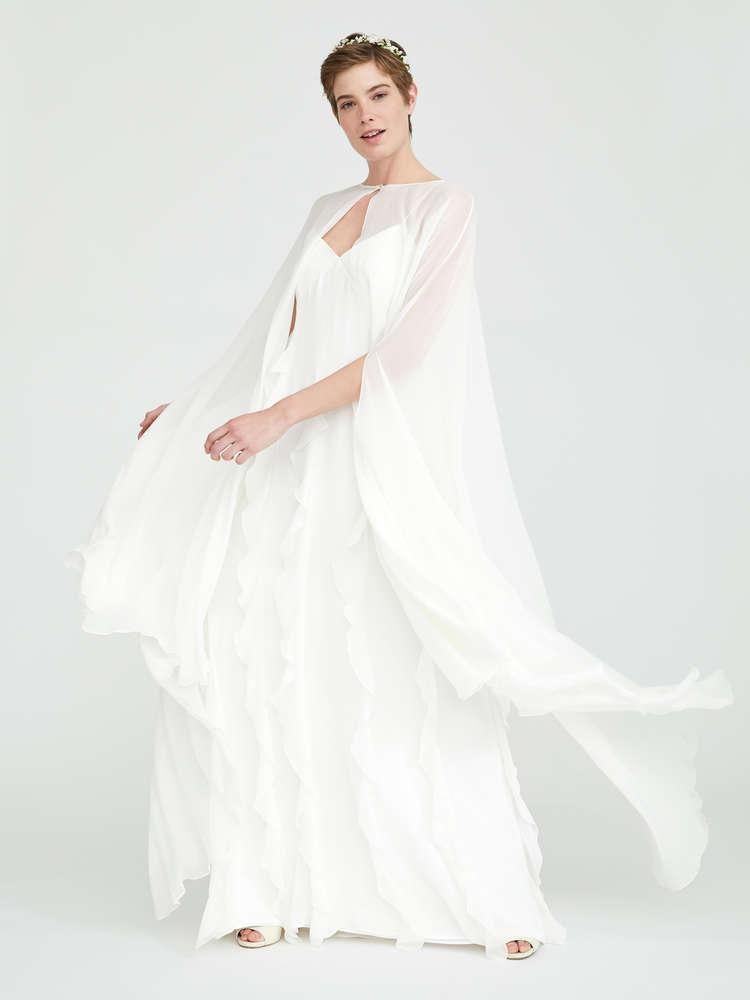 Silk-georgette cape