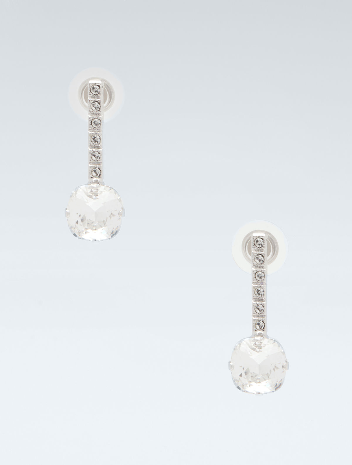 Crystal and rhinestone earrings