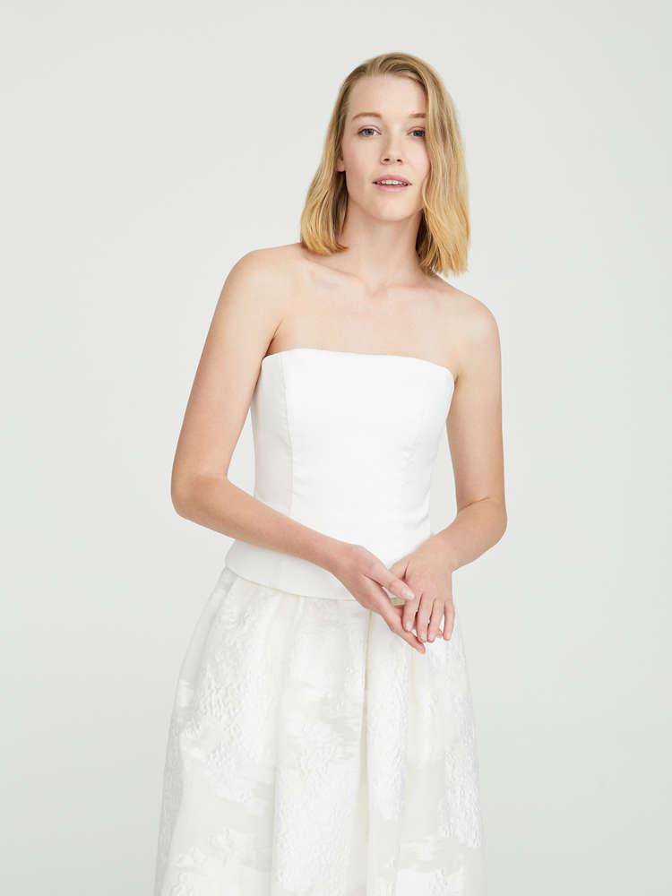 Cotton bustier top