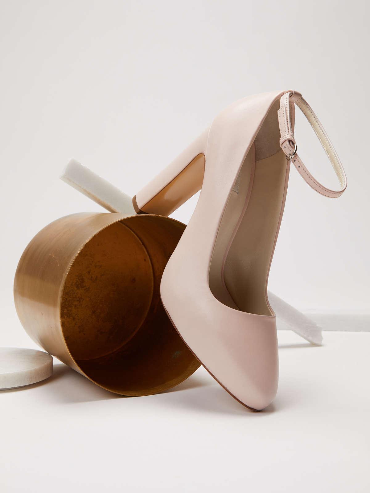 Zapatos de salón de piel
