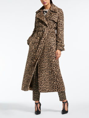 Wool and alpaca trench coat