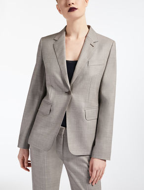 Wool and silk blazer