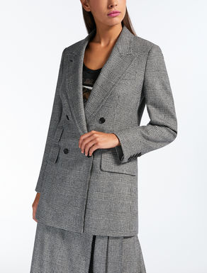 Wool and cashmere flannel blazer