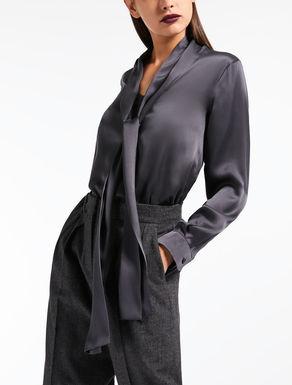 Camisa en raso de seda