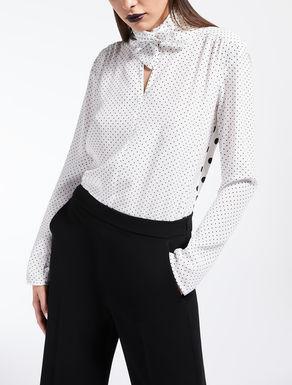 Camisa de seda y punto de viscosa