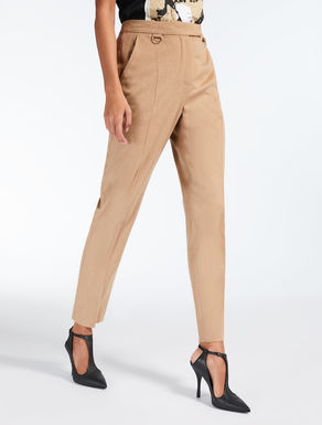Pure camel trousers