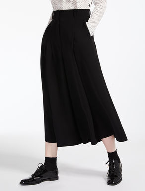 Cropped cady trousers