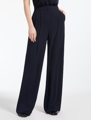 Silk georgette trousers
