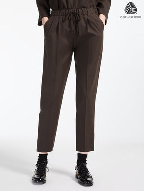 Extra-fine wool trousers