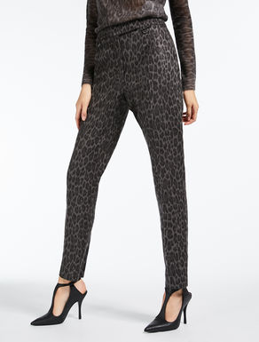 Jacquard flannel trousers