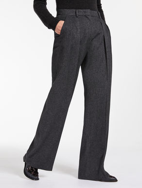 Camel melange trousers