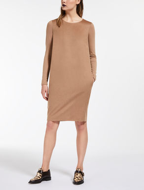 Camel and wool dress