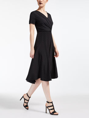 Silk and viscose jersey dress