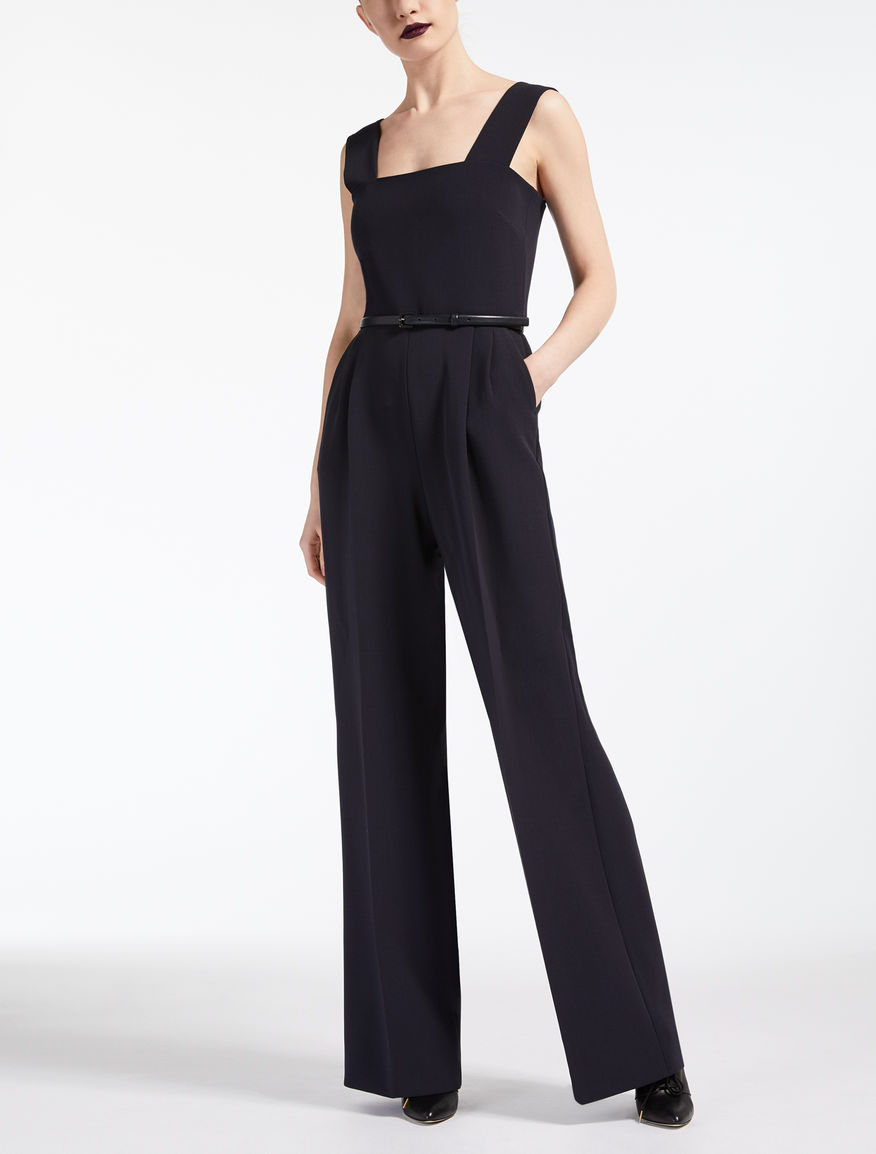 Wool crepe jumpsuit