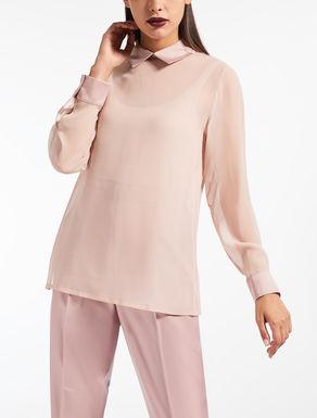 Camisa en georgette de seda