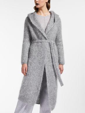 Cardigan en fils de laine mohair