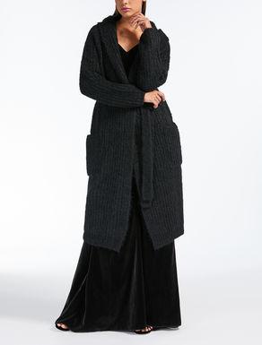Cardigan in filato di lana mohair