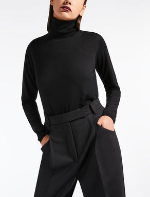 Wool polo neck jumper