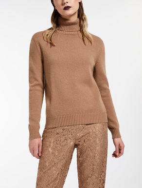 Cashmere and wool polo neck jumper