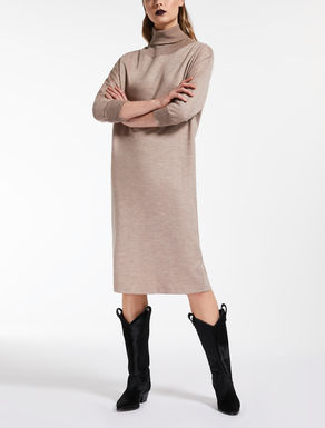 Wool jersey and cotton dress