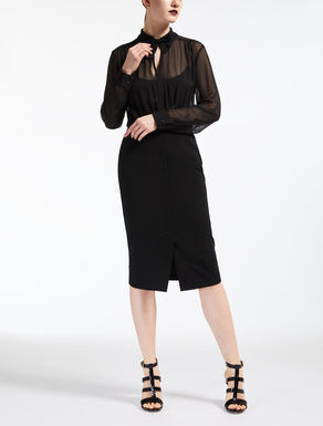 Georgette and viscose jersey dress