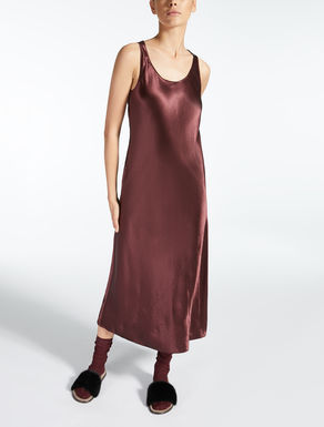 Satin acetate dress