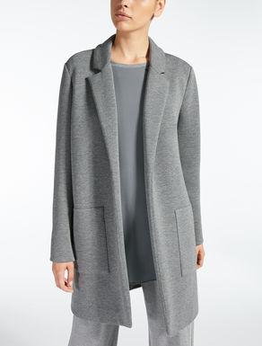 Manteau en jersey scuba