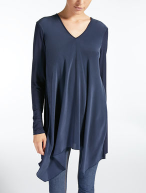 Crepe de chine and viscose tunic
