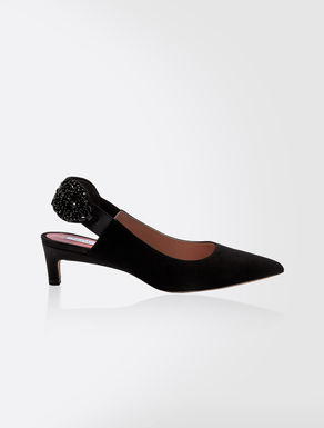 Sling back in pelle scamosciata