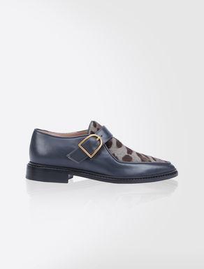 Derby-Schuhe aus Pferdefell und Leder