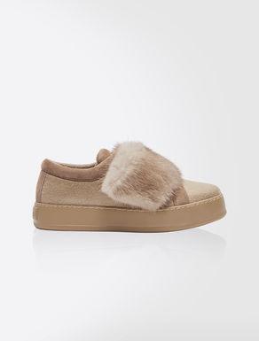 Sneakers in cachemire e visone