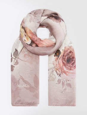 Silk chiffon foulard
