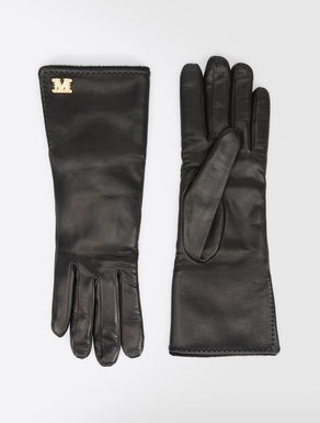Nappa and camel gloves