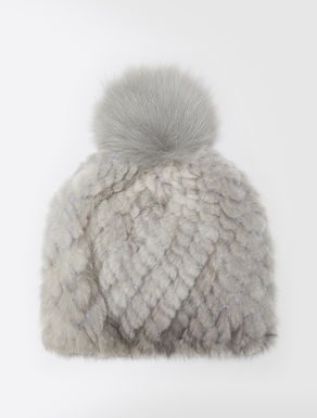 Mink and fox-fur hat