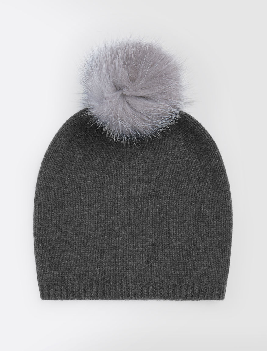 5340d1acc2f Cashmere and fox-fur hat. Colour  dark grey