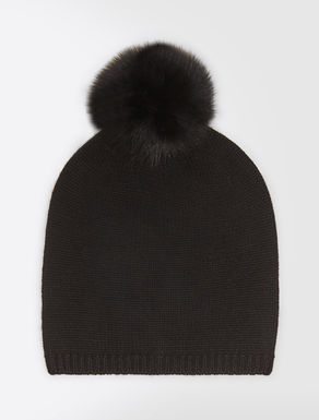 Cashmere and fox-fur hat