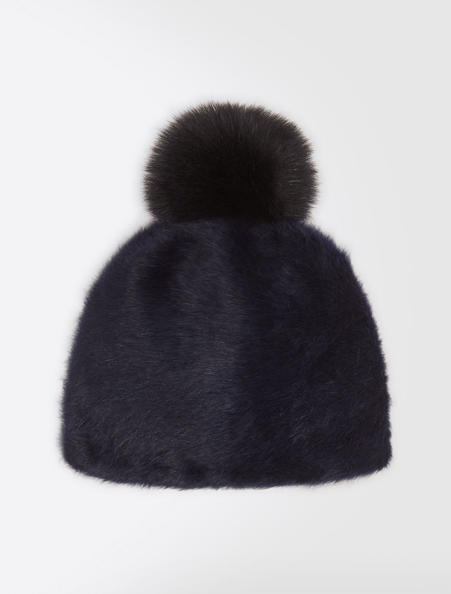 Angora and fox-fur hat