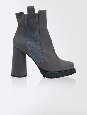 Bottines en cuir nubuck