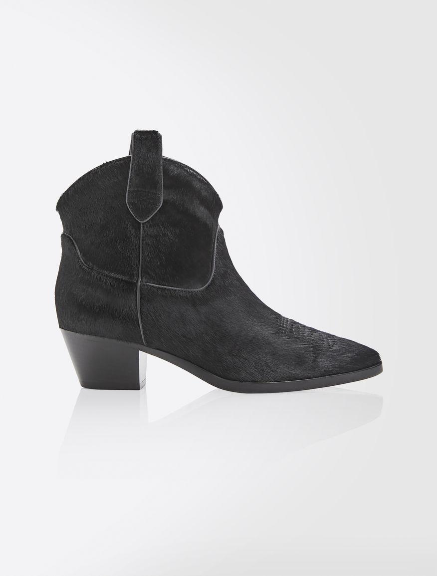 Pony-skin Texan booties