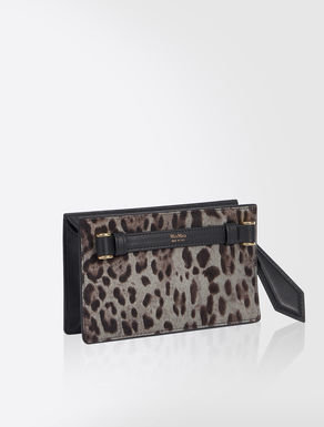 Printed pony-skin belt bag