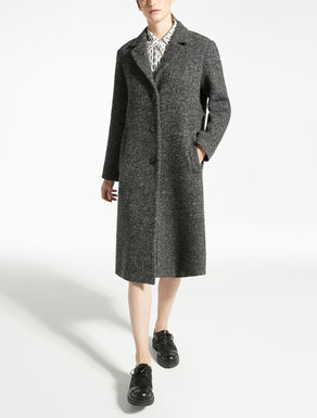 Wool, mohair and alpaca coat