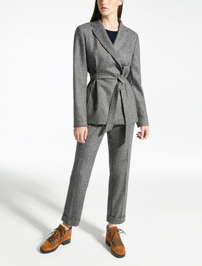 Tweed wool and silk blazer