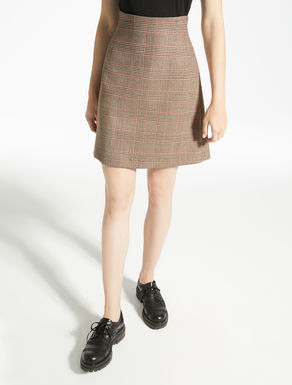 Twill wool skirt