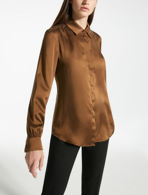 Silk satin shirt