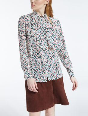 Camisa en crepé de China de seda