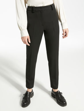 Stretch gabardine trousers