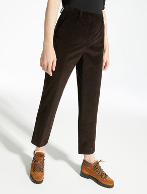 Stretch velvet trousers