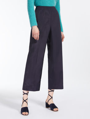 Viscose faille trousers