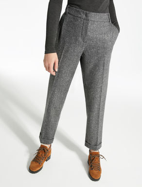 Tweed wool trousers